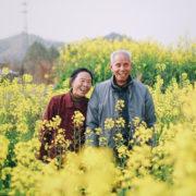 花畑の夫婦